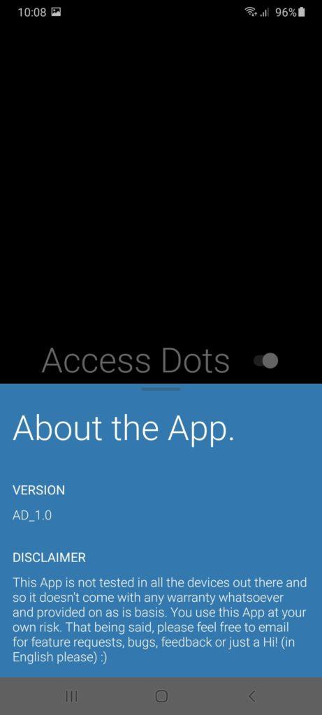 Access Dots О программе