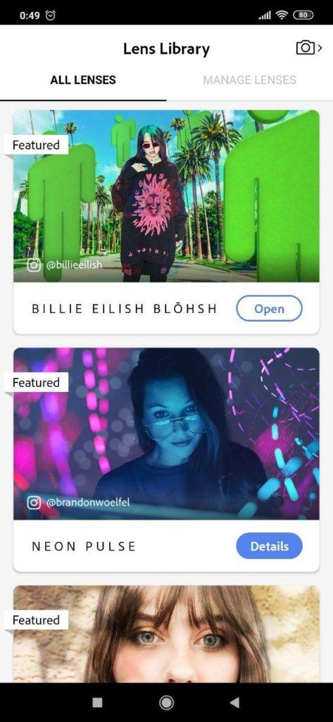 Adobe Photoshop Camera Фильтры