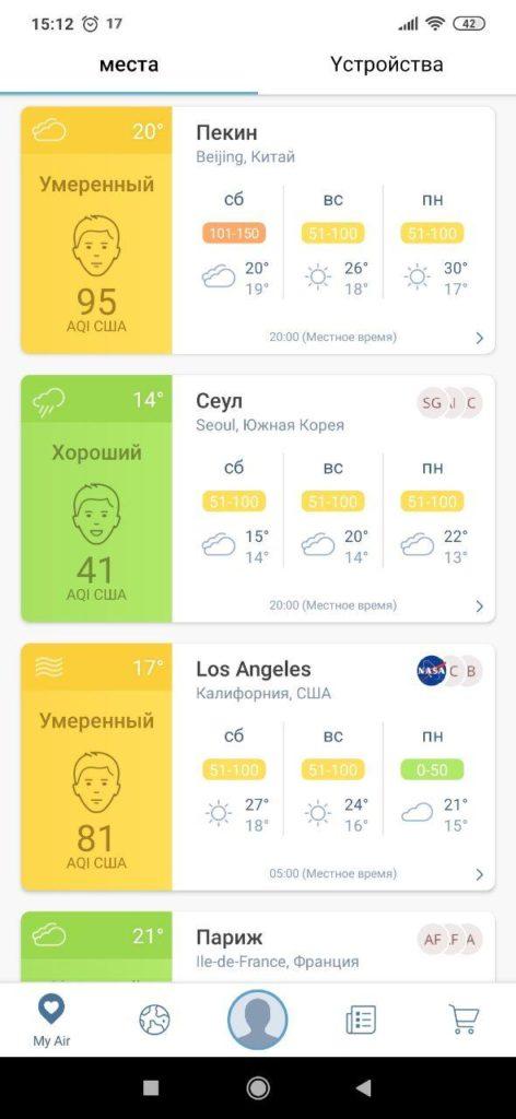 Air Quality Погода