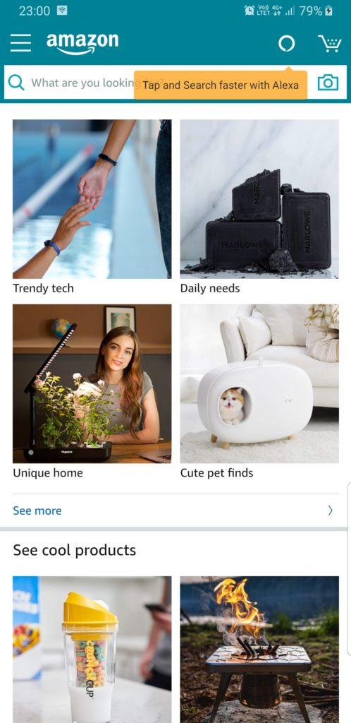 Amazon Shopping главная