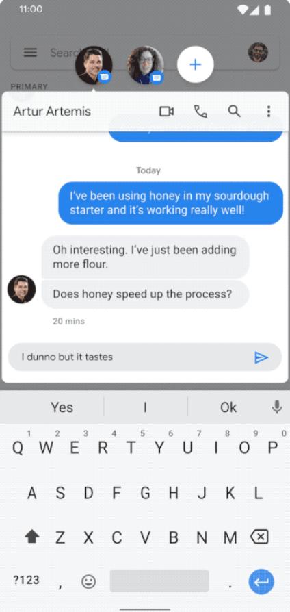Android 11 Сообщение