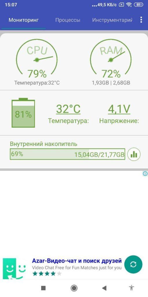 Андроид Ассистент Статистика