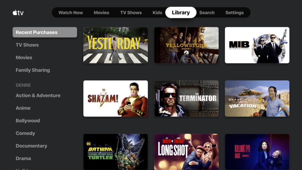 Apple TV Каталог