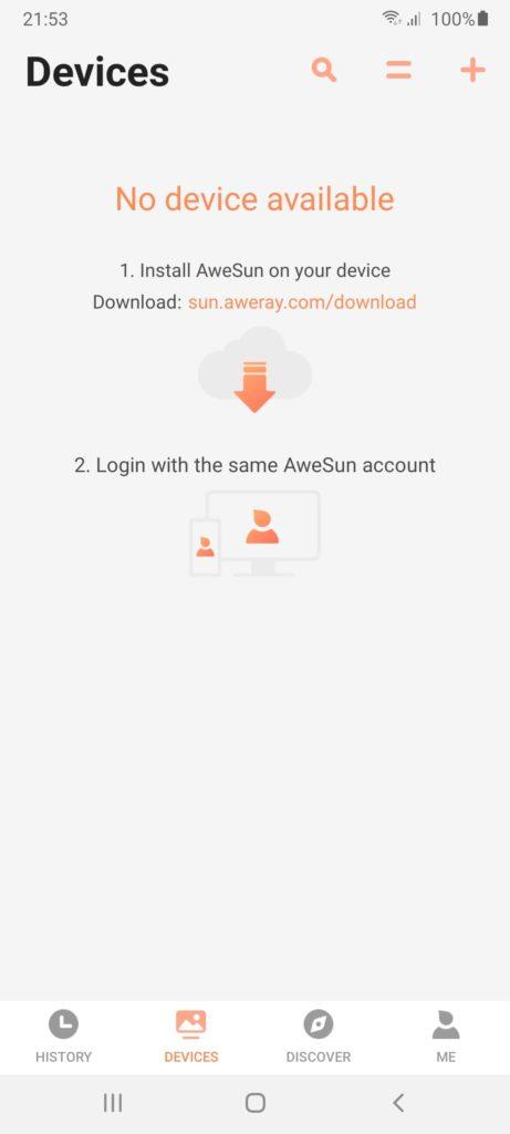 AweSun Устройства
