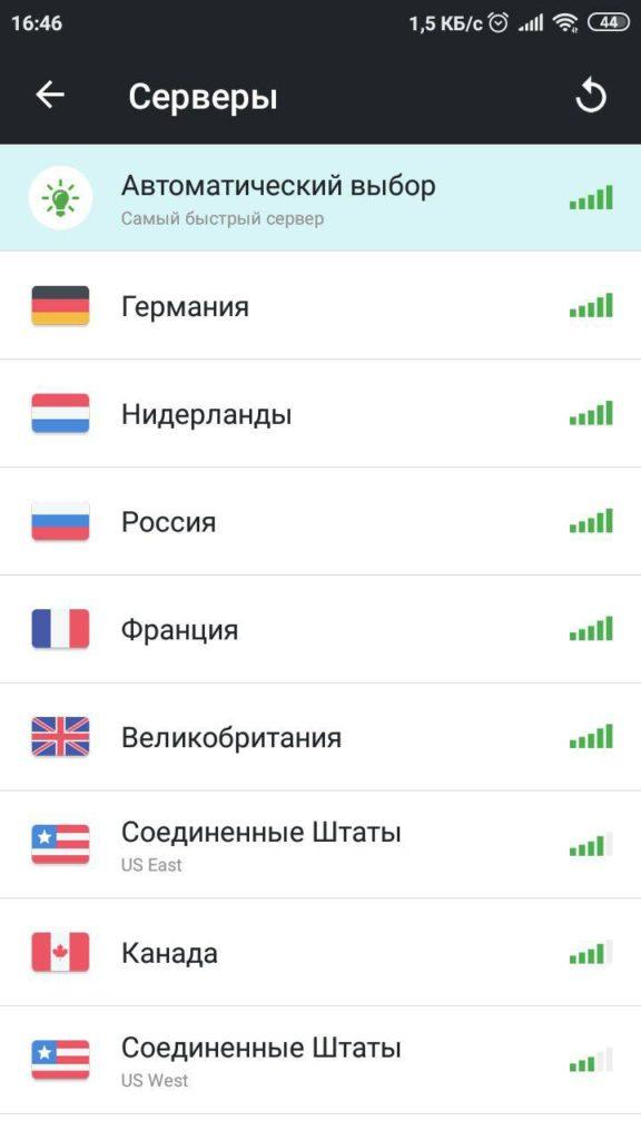 Безопасная VPN Серверы