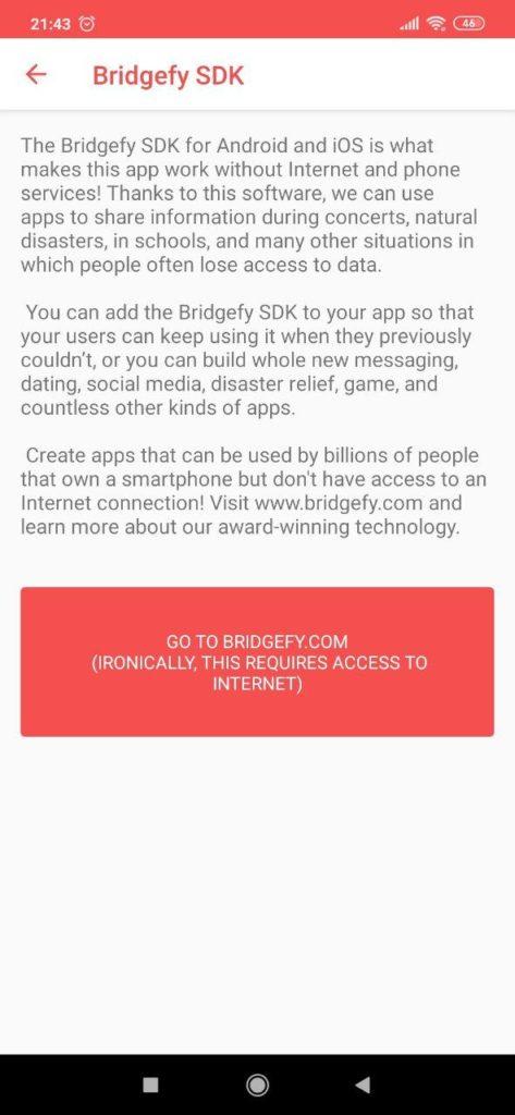 Bridgefy Инструкция