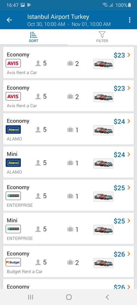 CheapOair Автомобили