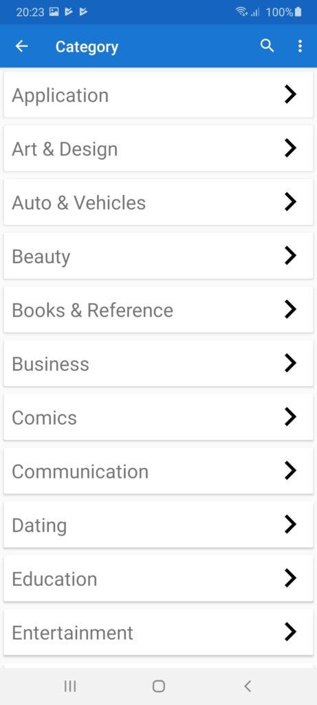 Dream Apps Market Категории