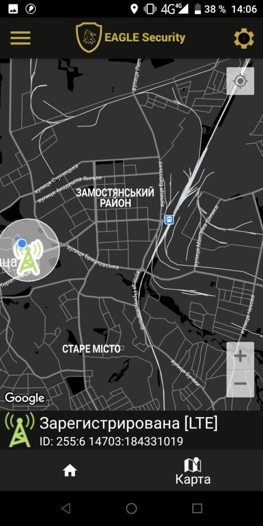 EAGLE Security Карта