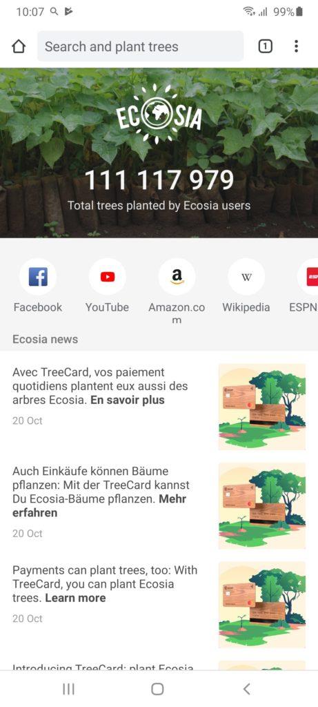 Ecosia Главная