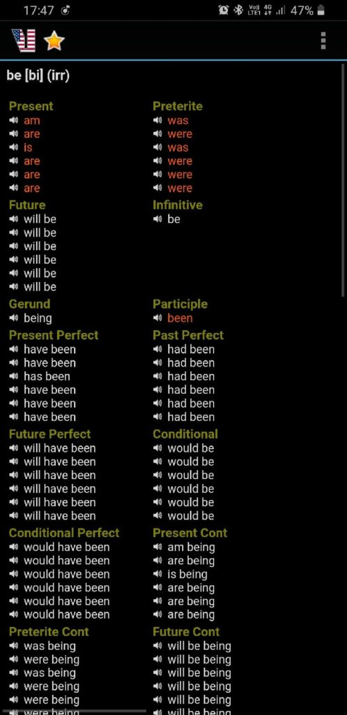 English Verbs глагол