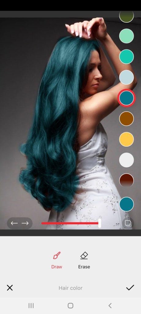 Фотошоп Цвет Волос Зеленый