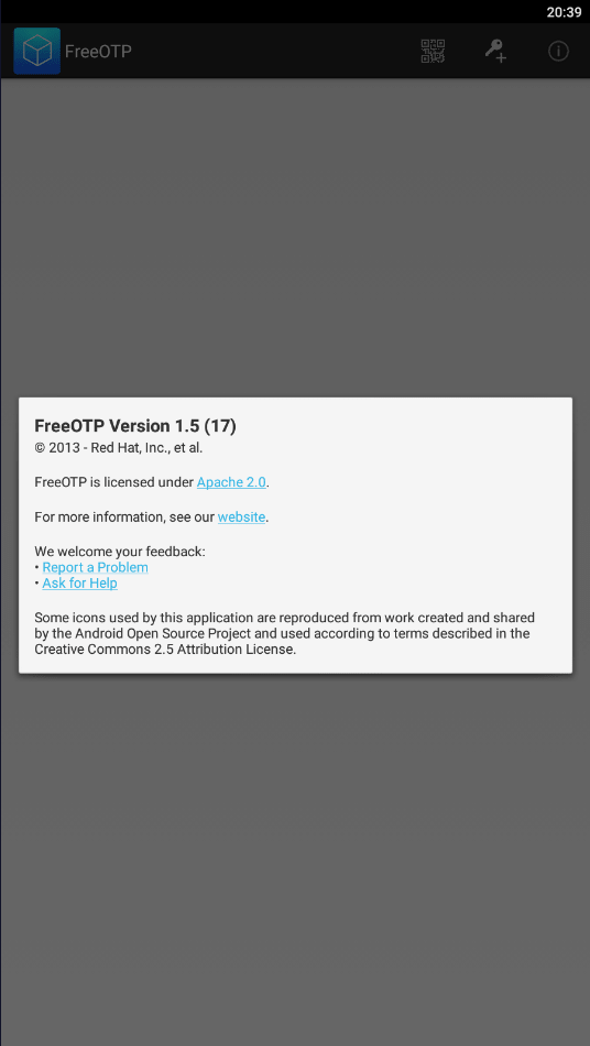 FreeOTP Информация