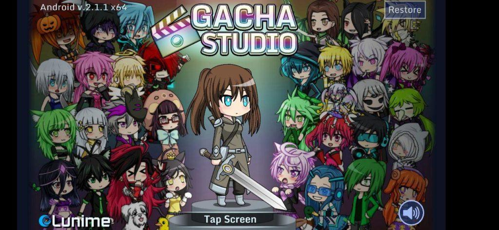 Gacha Studio Меню