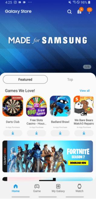 Galaxy Store Мобильные игры
