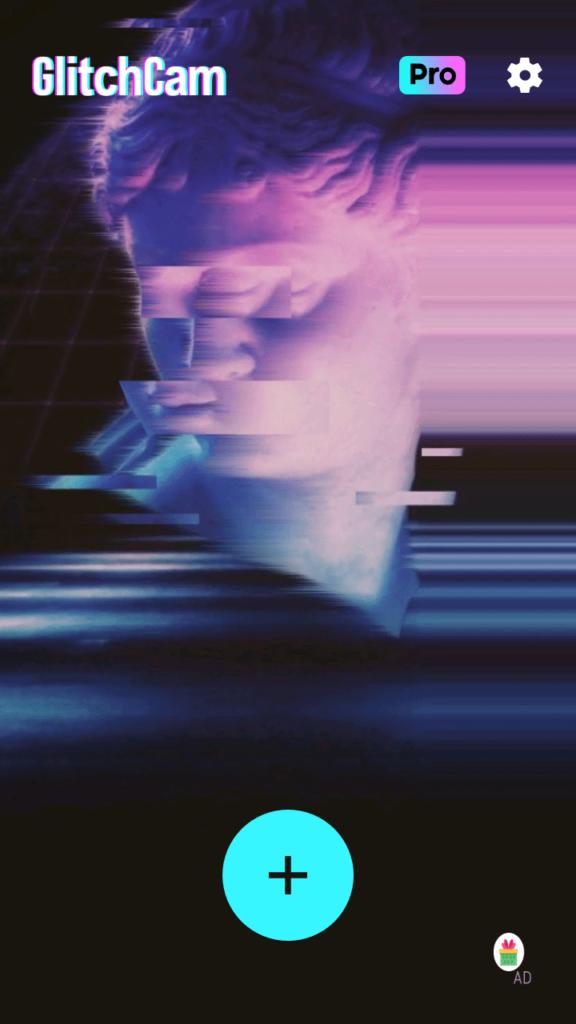 Glitch Фоторедактор Главный экран