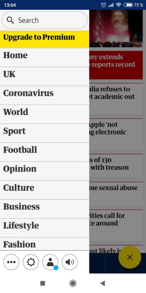 Guardian Категории