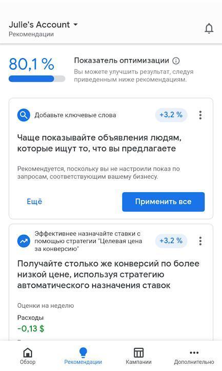 Гугл Реклама Рекомендации