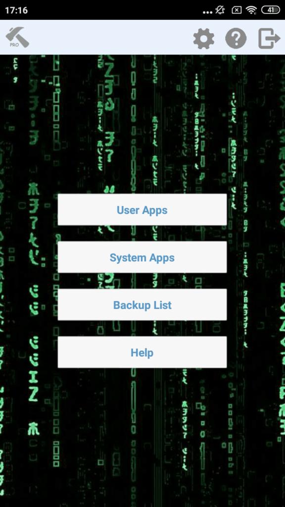 Hack App Data Pro Главный экран