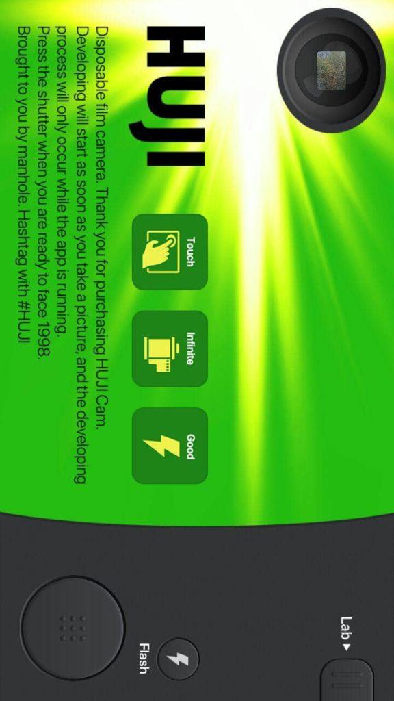 Huji Cam Основной экран
