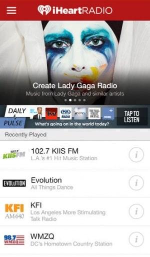 iHeartRadio Создание радио