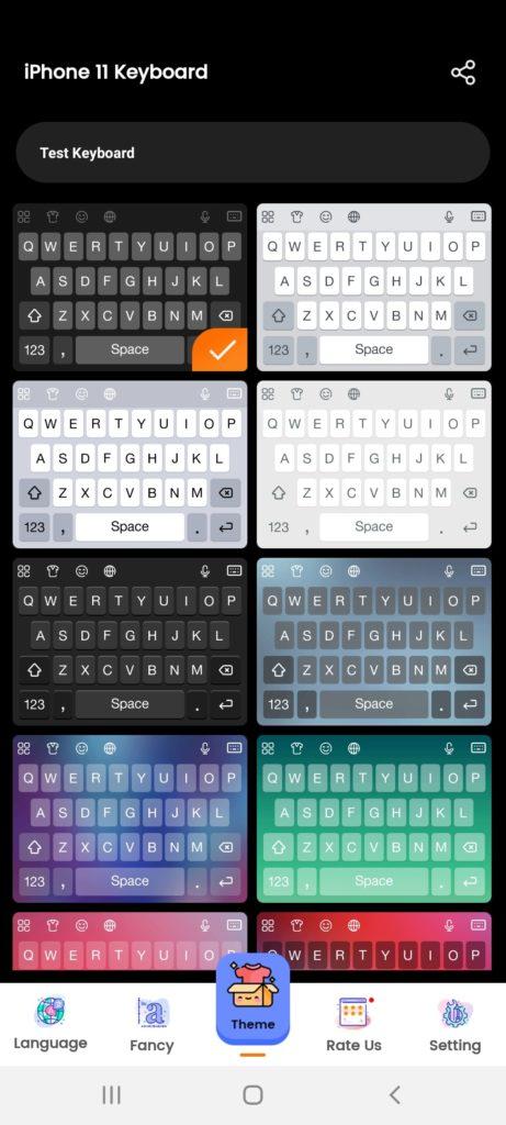 iOS Keyboard Темы