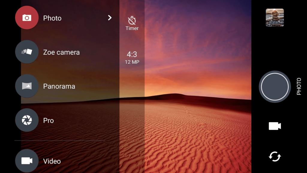 Камера HTC Параметры