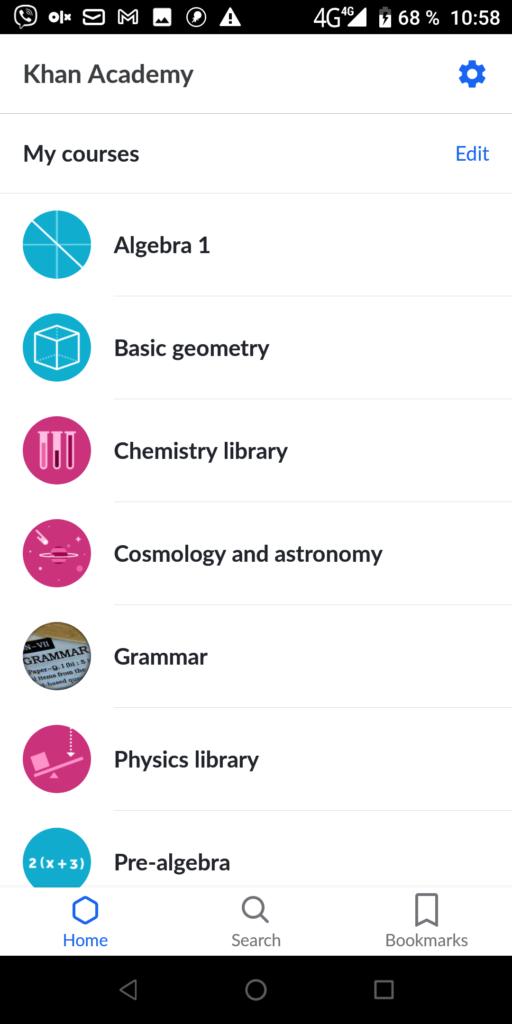 Khan Academy Мои курсы