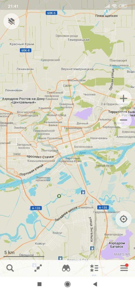 MAPS ME Карта