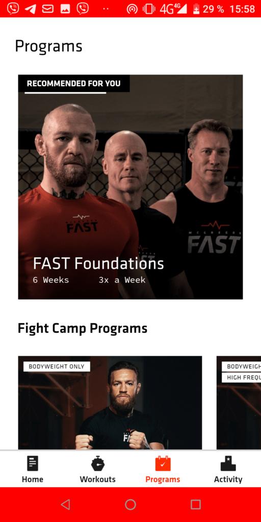 McGregor FAST Программы