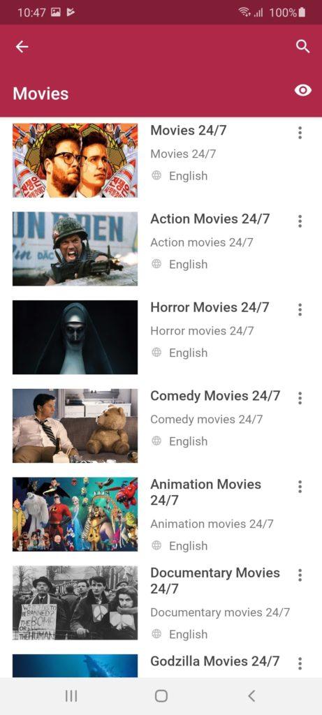 Mobdro Фильмы