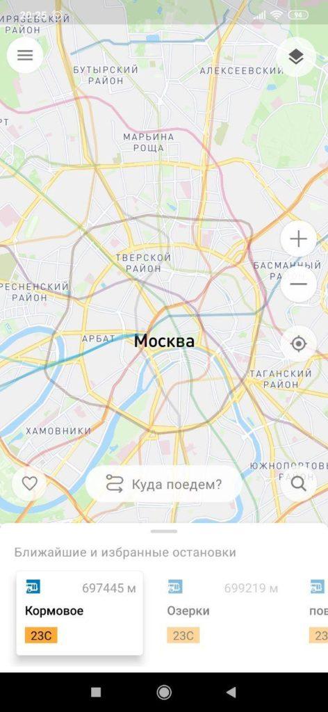 Московский транспорт Карта