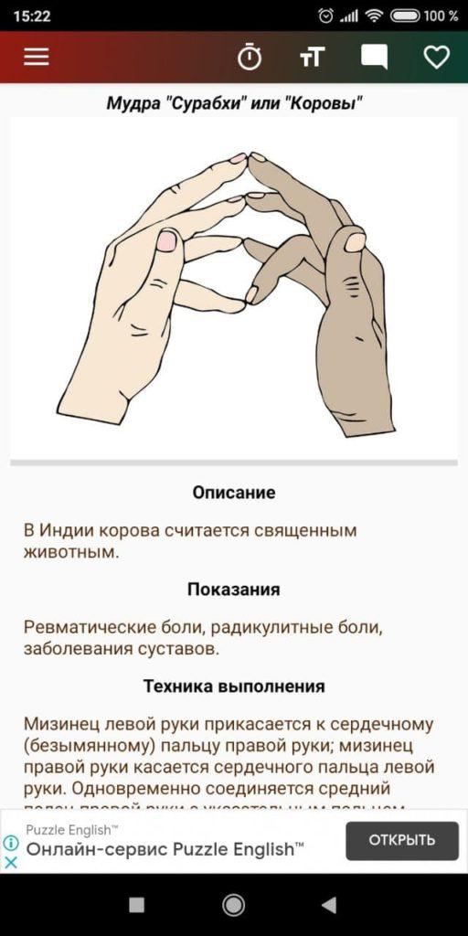 Мудры Инструкция
