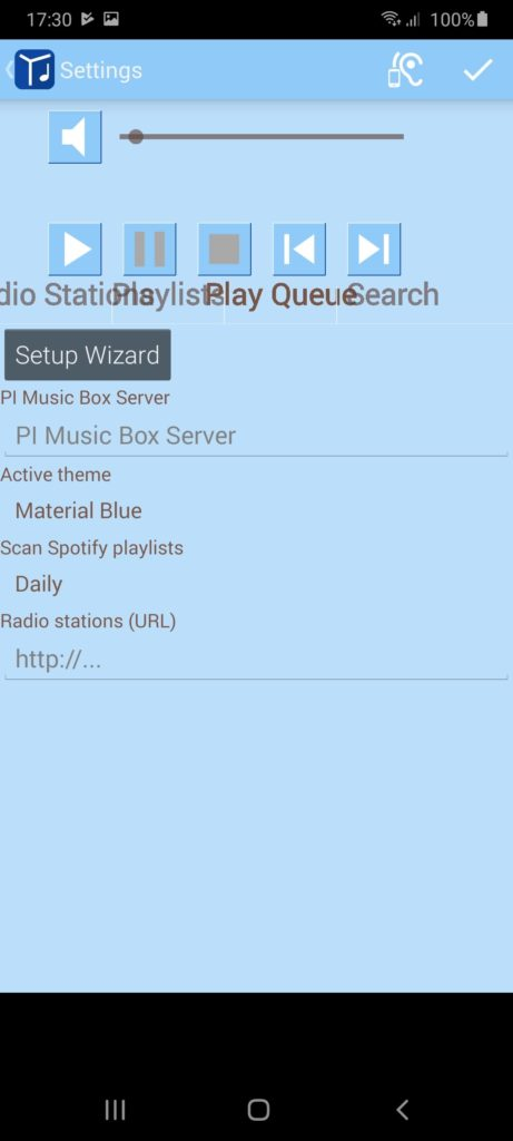 Music Box Настройка