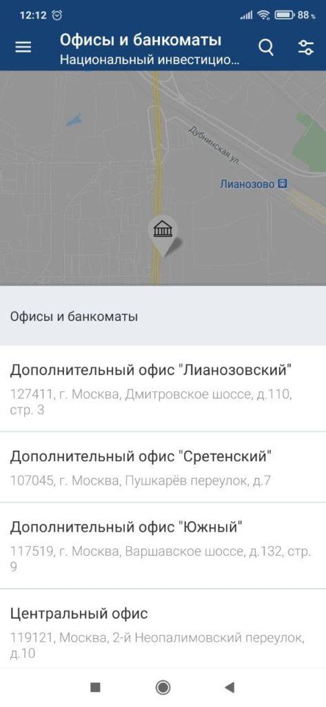 Нацинвестпромбанк Карта