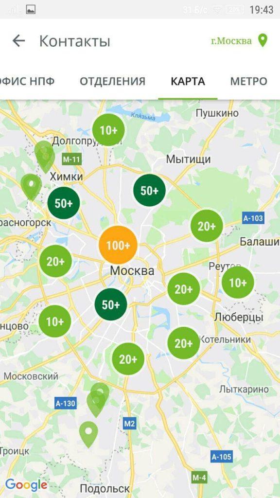 НПФ Сбербанка Карта