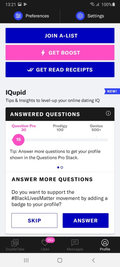 OkCupid Профиль