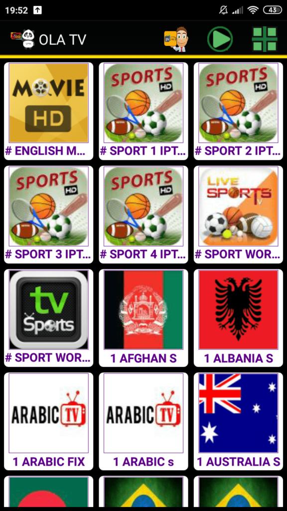OLA TV Список каналов