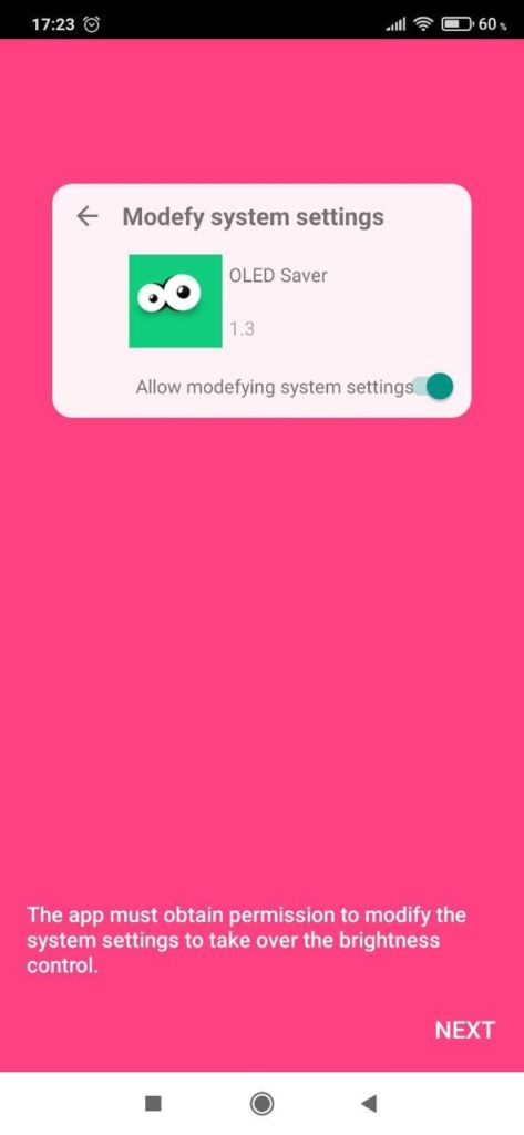 OLED Saver Кнопка