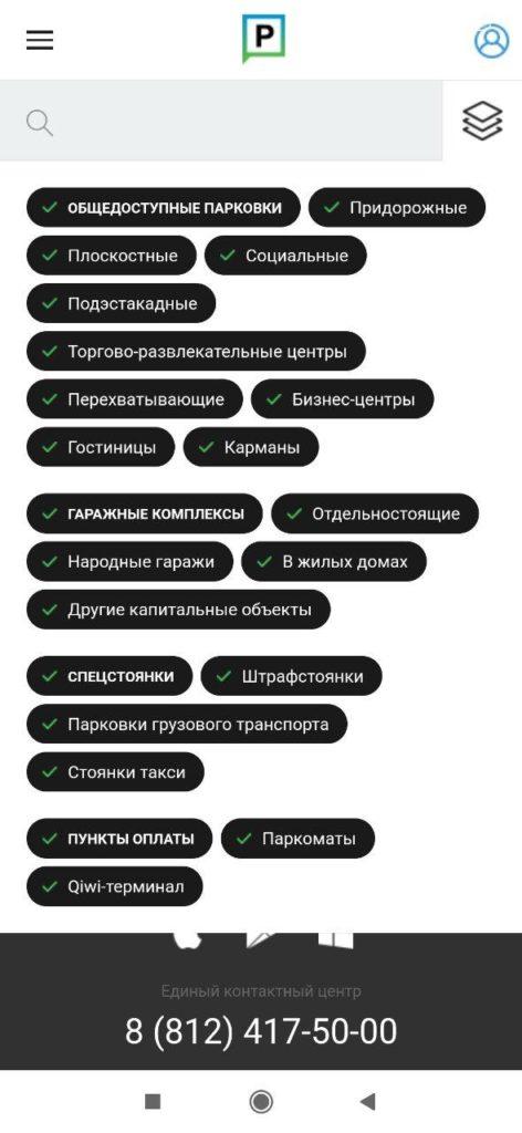 Парковки Санкт Петербурга Список