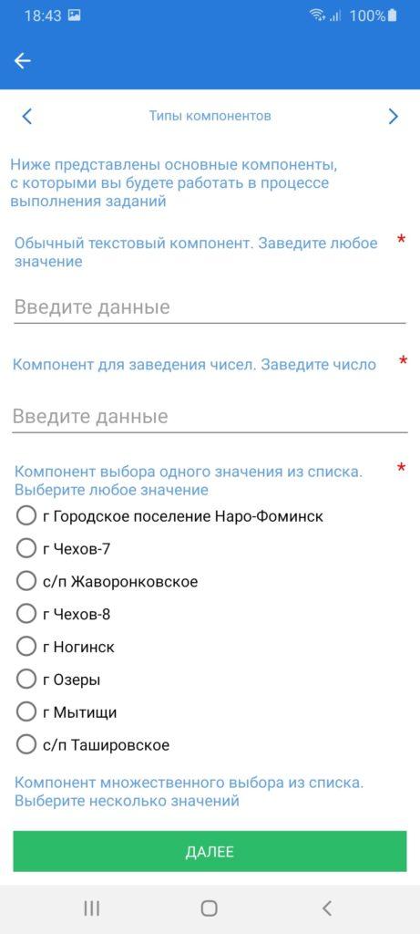 Проверки Подмосковья Компоненты
