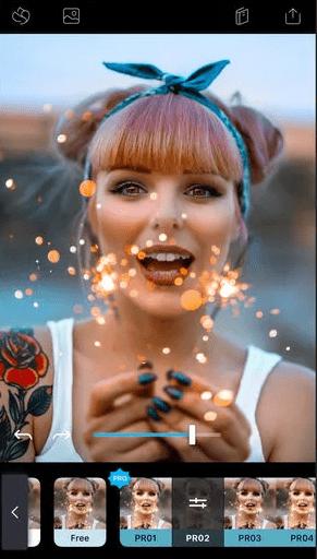 Quickshot Применение фильтра