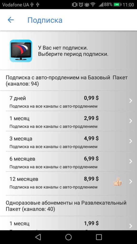 Русское ТВ подписка