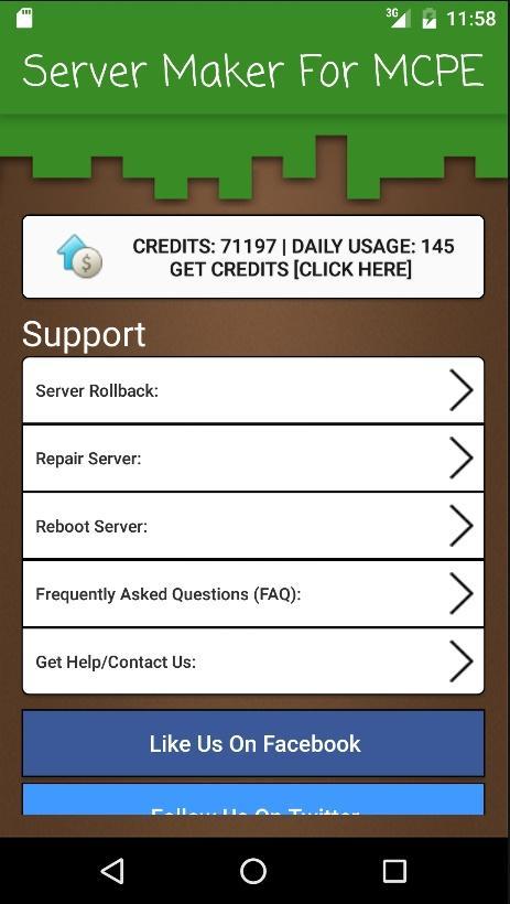 Server Maker for MCPE Поддержка