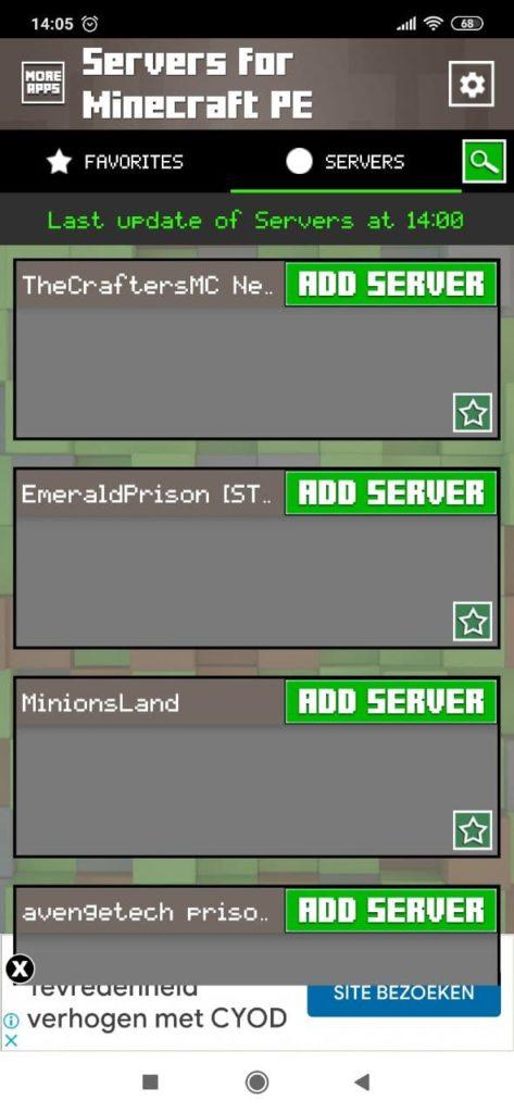 Серверы для Майнкрафт Список