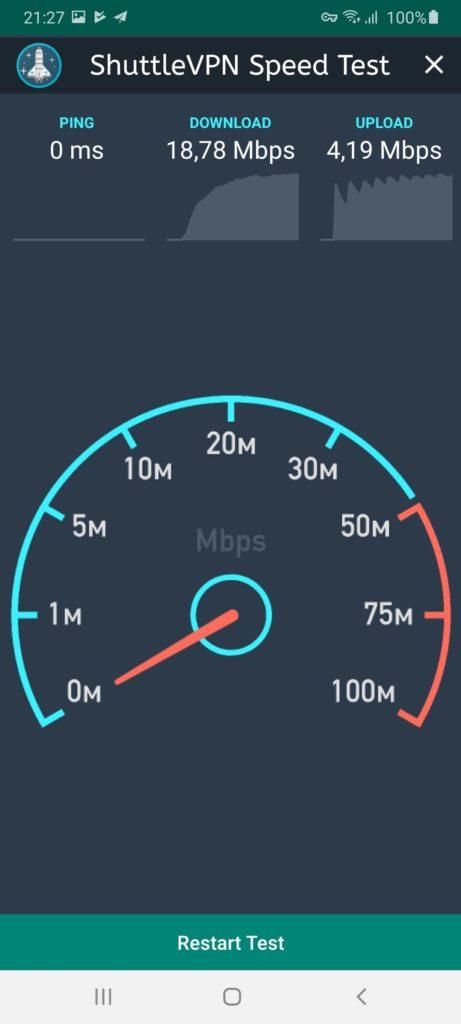 Shuttle VPN Тест