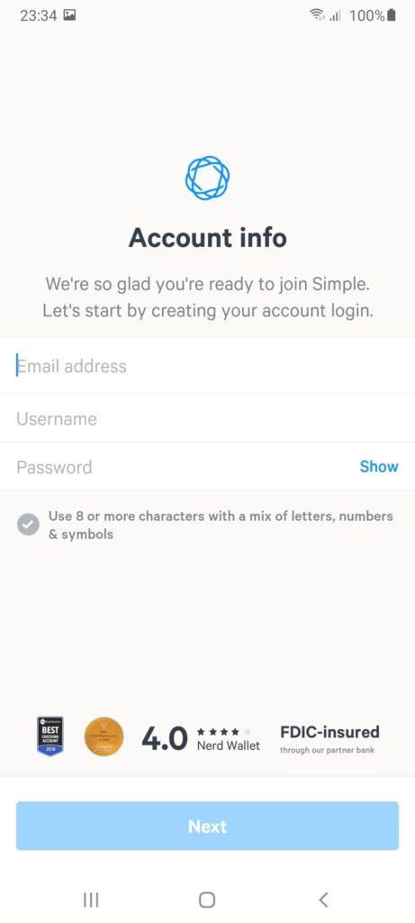 Simple Регистрация