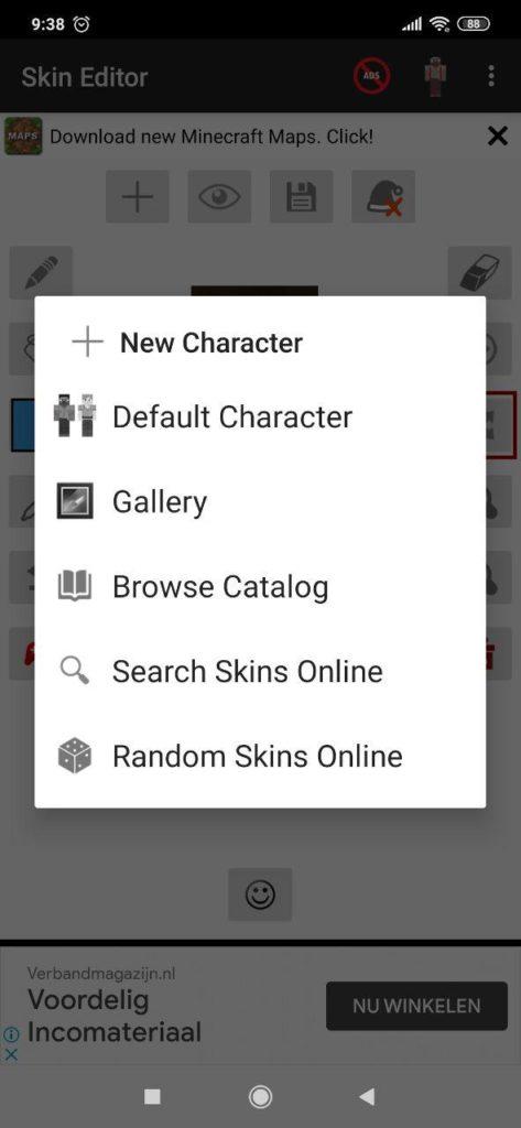 Skin Editor for Minecraft Опции