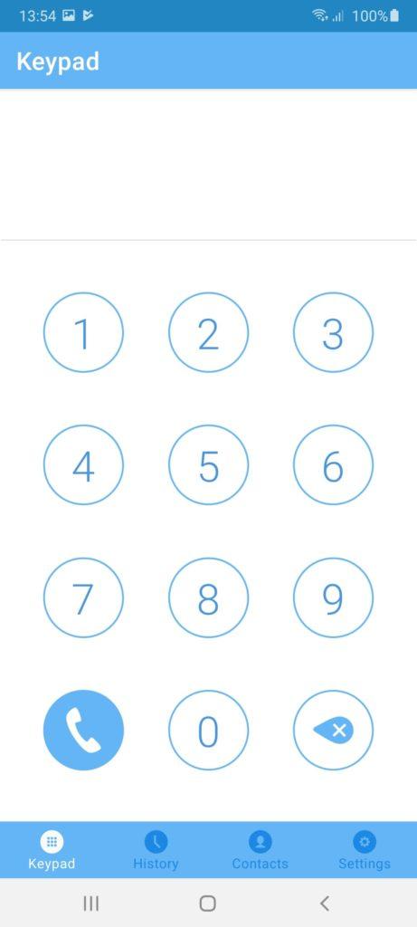 SkyPhone Набор номера