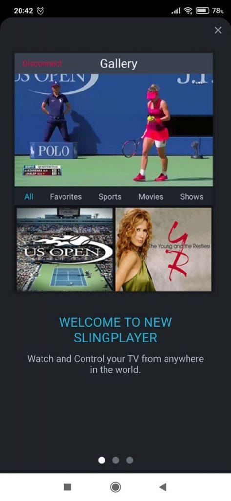 SlingPlayer Каналы